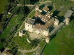 Vista aerea del castillo de Piedrabuena a unos diez kilometros de Alburquerque.