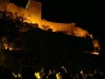 Una noche de conciertos con el castillo al fondo en Contempopranea