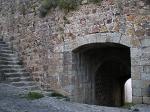 La puerta de Valencia por el interior de la muralla