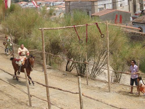 Ginkana a caballo celebrada en los baluartes