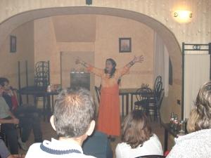Mariola del Pozo durante una de sus intervenciones.