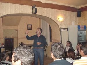 Manu Alburquerque durante una de sus intervenciones.