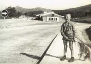 Antiguo puesto aduanero de Puerto Roque poco tiempo después de ser inaugurado.