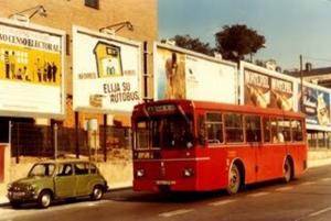 """Primeras unidades de autobuses """"rojos"""" en los años 70"""