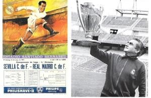 Cartel del partido Real Madrid - Sevilla de 1972